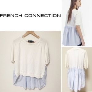 French Connection | Women's High Low Blouse L